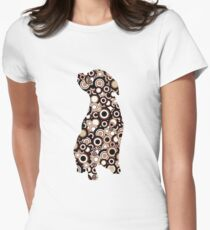 Chocolate Lab - Animal Art Women's Fitted T-Shirt