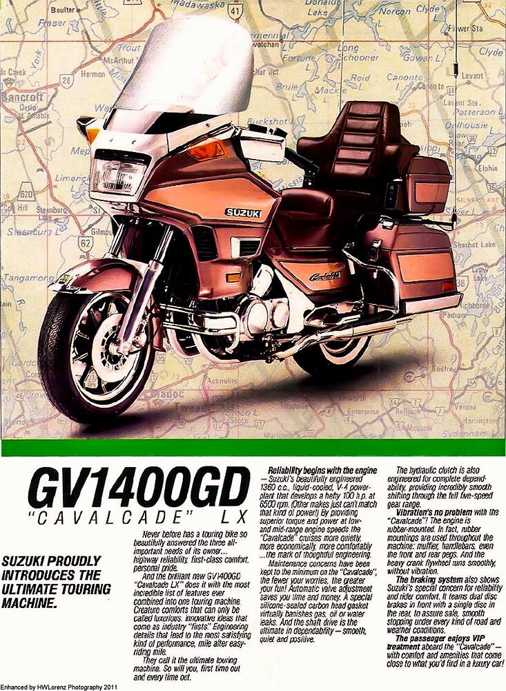 "1986 suzuki cavalcade lx brochure""howard lorenz | redbubble"