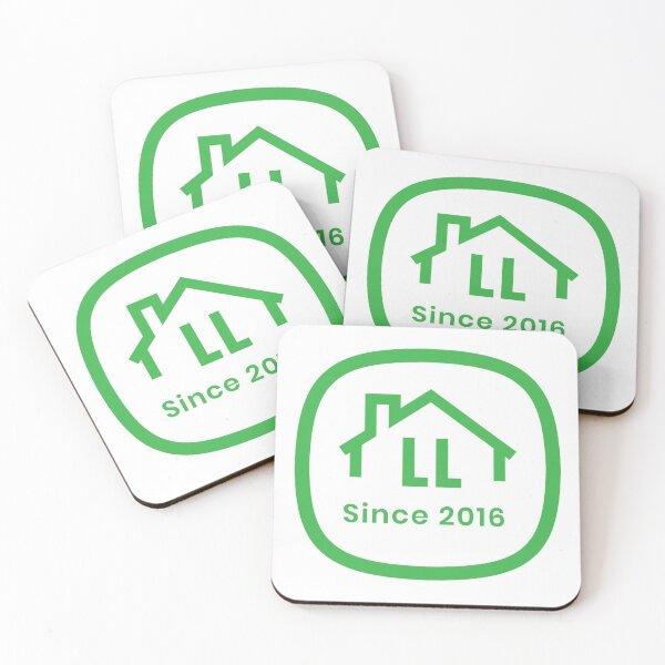 LL White Badge Coasters (Set of 4)
