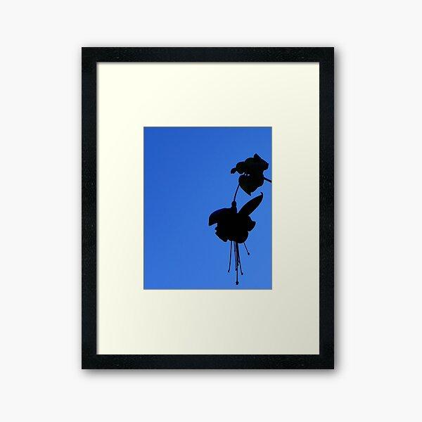 Fuchsia Silhouette  Framed Art Print