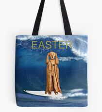 Surfing The Scream World Tour Happy Easter Tote Bag