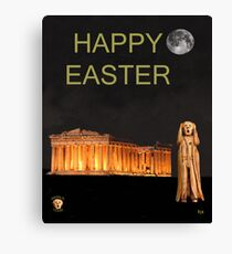 The Scream World Tour Athens Happy Easter Canvas Print