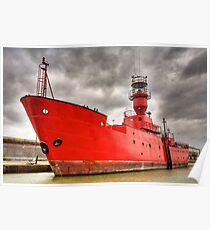 Lighthouse Ship Kent UK Poster