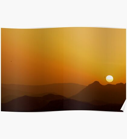 sunset over udaipur Poster
