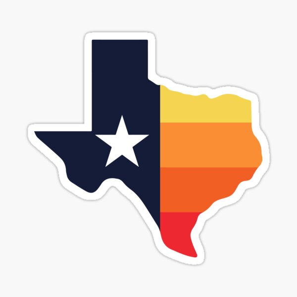 texas - stros - sunrise Sticker