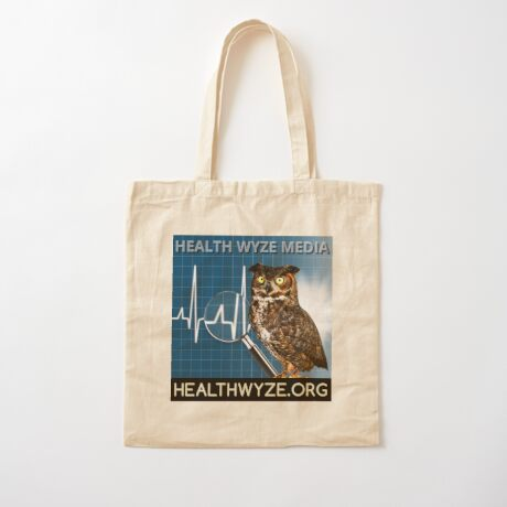 Health Wyze Media Cotton Tote Bag