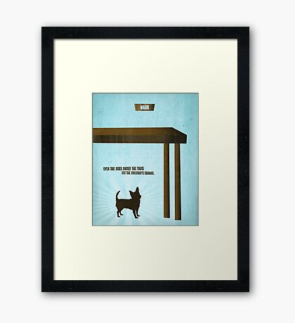 Word: Mark (Crumbs for Dogs) Framed Print