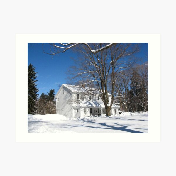 Quaker Meeting House, Orchard Park, NY Art Print