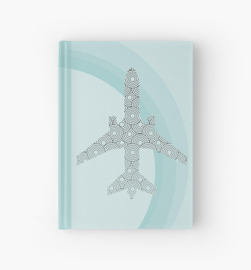 Fly-Away Aeroplane Hard Cover Journal by Anna McPhee