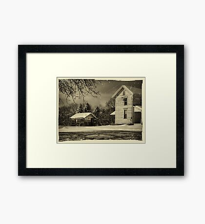 The Dilapidated Shed Framed Print