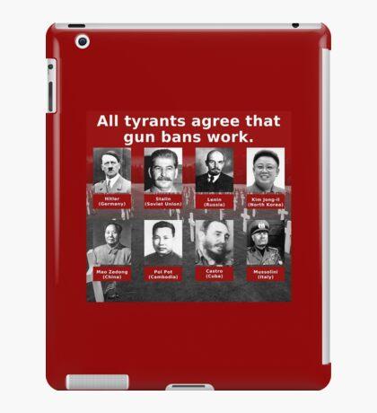 Tyrants Love Gun Control iPad Case/Skin