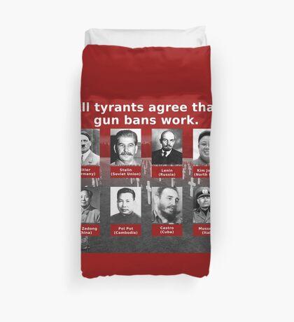 Tyrants Love Gun Control Duvet Cover