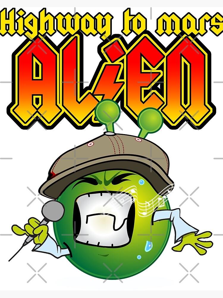 Funny Meme Rock Music Tshirt With Heavy Metal Singer Alien Art Board Print By Urbandevils Redbubble