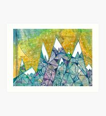 Mountainscape No. 3 Art Print