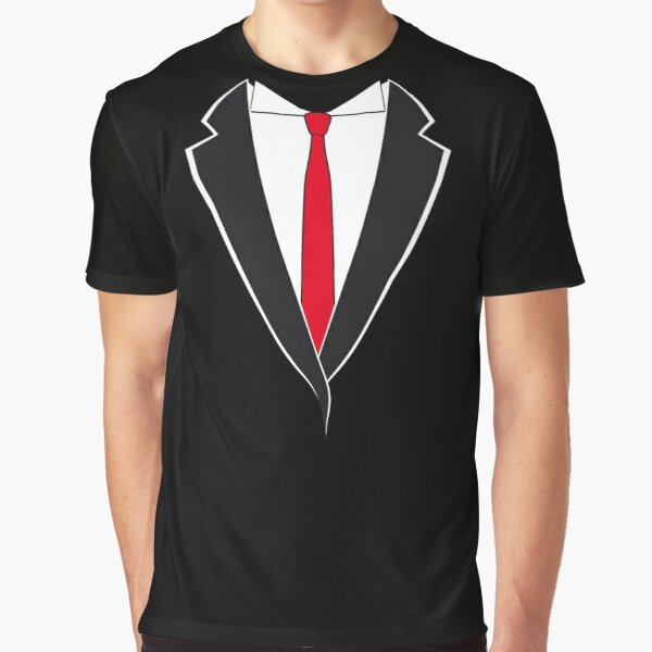 Tuxedo with Red Tie Graphic T-Shirt