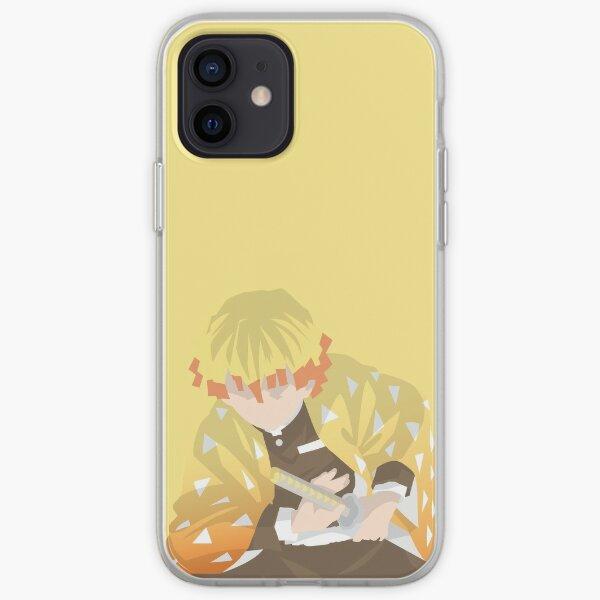 Kimetsu No Yaiba / Tueur de démons Zenitsu Agatsuma Demon Slaying Corps Coque souple iPhone