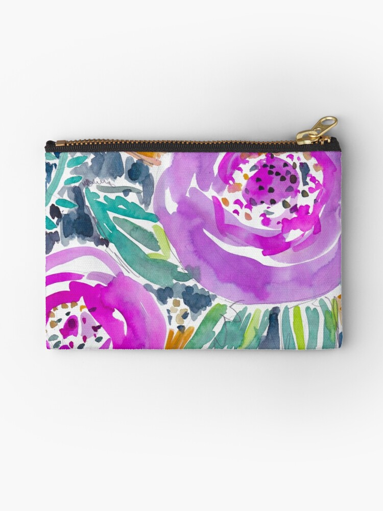 Gardens of Bolinas Purple Floral by Barbarian