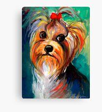 Yorkshire Terrier dog Painting #1 Svetlana Novikova Canvas Print