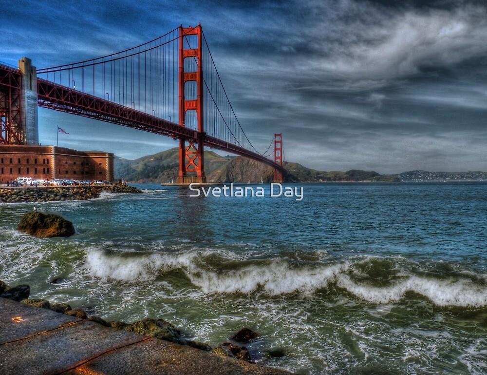 Golden Gate Bridge In Color HDR by Svetlana Day