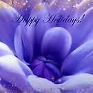 Purple And Gold Happy Holidays by hurmerinta