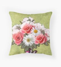 Easter Florals Throw Pillow