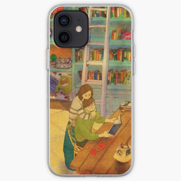 Reading a book iPhone Soft Case