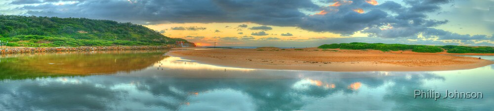 Greeting the Dawn - (30 Exposure HDR Panorama) Narrabeen Lakes Entrance, Sydney - The HDR Experience by Philip Johnson