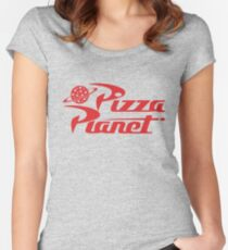 Pizza Planet shirt – Toy Story, Woody, Buzz Women's Fitted Scoop T-Shirt