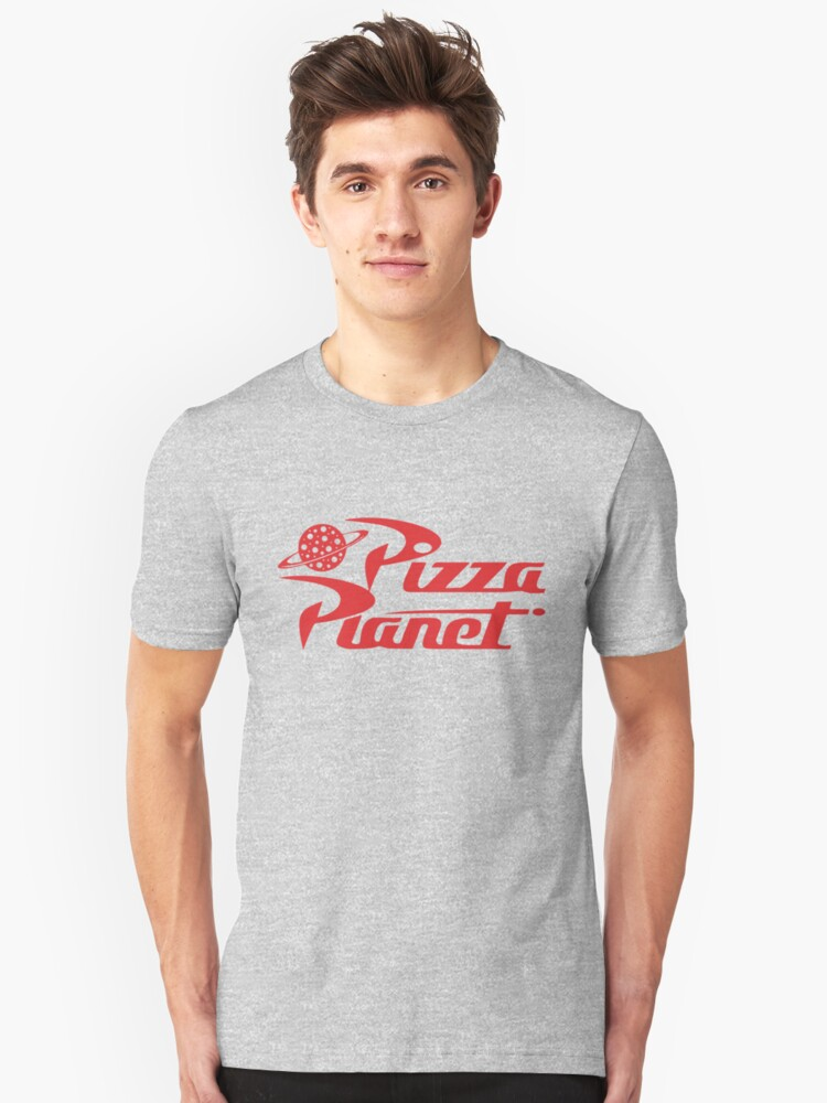 Pizza Planet shirt – Toy Story, Woody, Buzz Unisex T-Shirt Front
