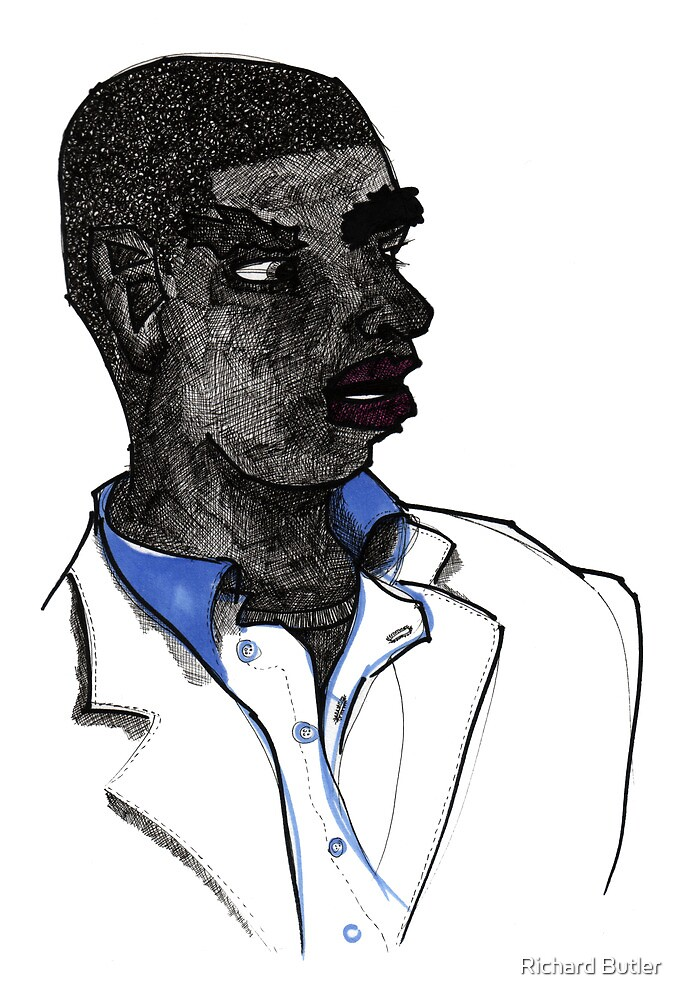 Man On Subway by Richard Butler