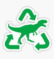 Tyrannosaurus Rex Recycled Dinosaur Gas Green Sticker