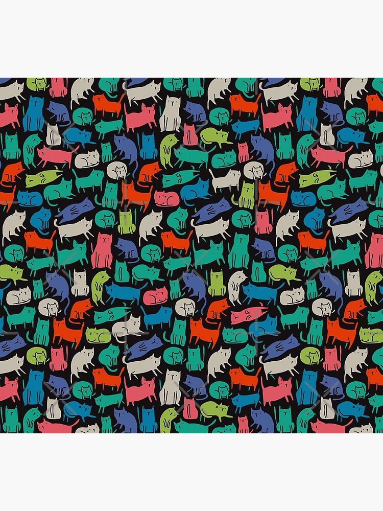 Cool Cats. Funny cute colorful pet design. by kostolom3000