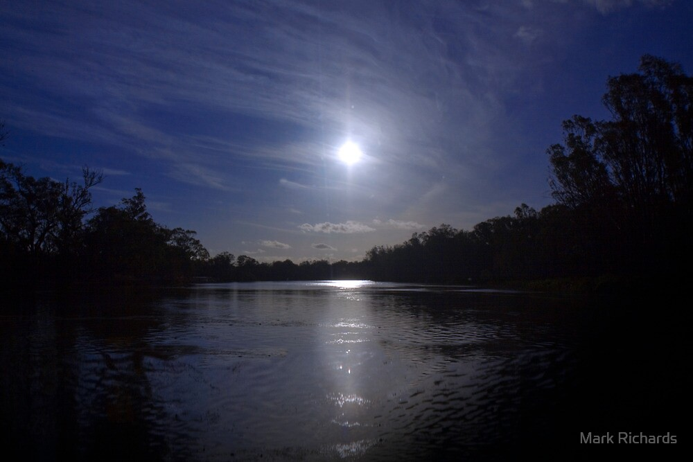 Midnight Sun - The River Murray Above Renmark by Mark Richards