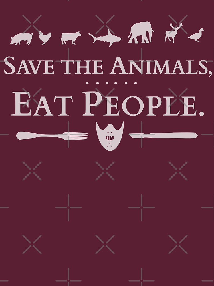 TShirtGifter presents: save the animals, EAT PEOPLE (2) | Women's T-Shirt
