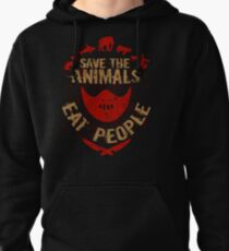 save the animals, EAT PEOPLE Pullover Hoodie