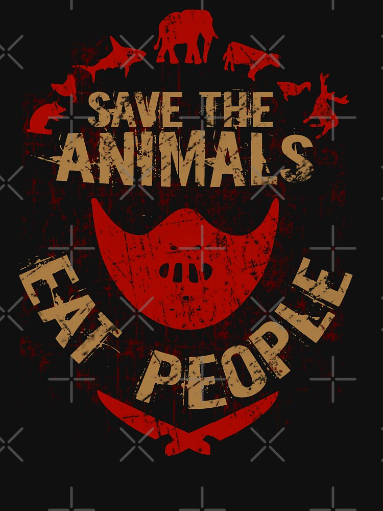 save the animals, EAT PEOPLE | Women's T-Shirt