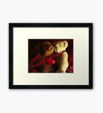 Cute and Cuddly Feature Banner Framed Print
