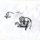 new werewolf sketch by mattycarpets