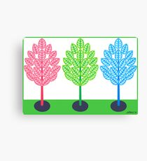 THREE TREES - BRUSH AND GOUACHE Canvas Print