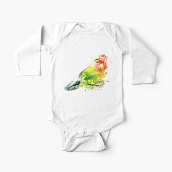 Lovebird Long Sleeve Baby One-Piece