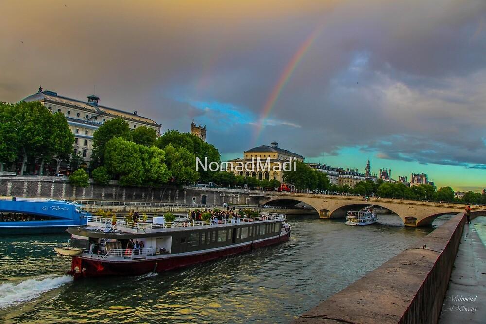Double rainbow, wedding on a boat, France by NomadMadi