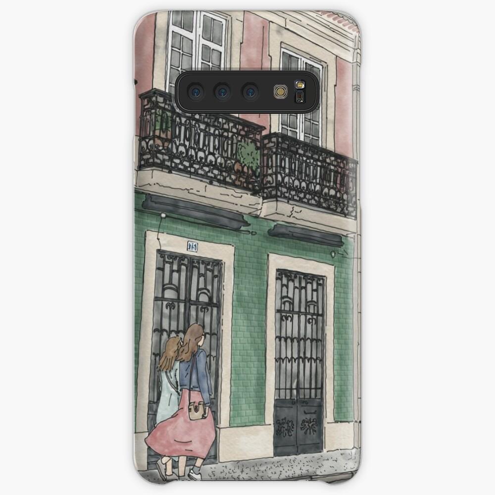Lisbon street scene illustration Case & Skin for Samsung Galaxy