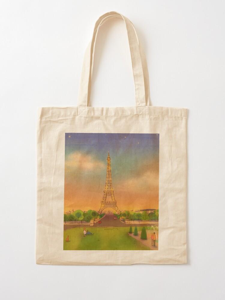 Alternate view of Eiffel Tower, Paris, France Tote Bag