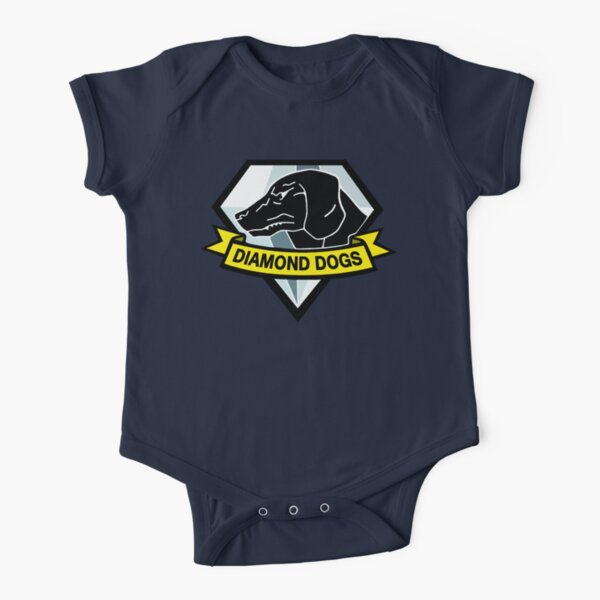Diamond Dogs Short Sleeve Baby One-Piece