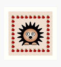 Little Cute Hedgehog Art Print