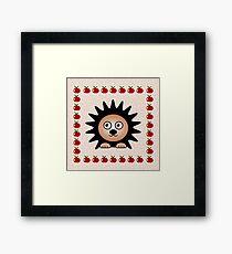 Little Cute Hedgehog Framed Print