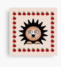 Little Cute Hedgehog Canvas Print