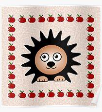 Little Cute Hedgehog Poster