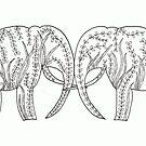 Garden Elephants by Kelly Robinson