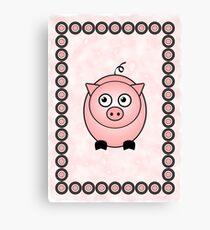 Little Cute Piggy Canvas Print